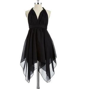 Twisted handkerchief tank dress